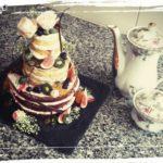"""Mini """"naked cake"""" zum ersten Hochzeitstag"""