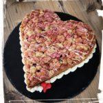 Rührkuchen-Erdbeerherz