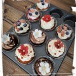 bunte Cupcakes zur Hochzeit