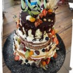 naked cake Geburtstagstorte