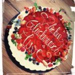 Erdbeer-Joghurttorte zum Geburtstag