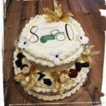 zwei stöckige Torte zum 80. Geburtstag