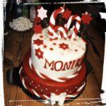 Geburtstagstorte in rot weiß
