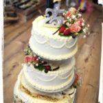 Hochzeitstorte auf Etagere