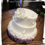 Hochzeitstorte in Blütenoptik - 2