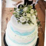 3 stöckige Hochzeitstorte
