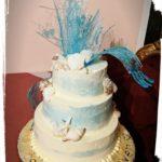 Hochzeitstorte mit Zucker Skulptur